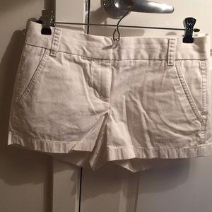 White J. Crew chino shorts